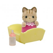Sylvanian Families Sandy Striped Cat Baby