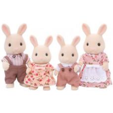 Sylvanian Families Periwinkle Milk Rabbit Family