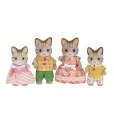 Sylvanian Families Sandy Striped Cat Family