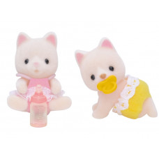 Sylvanian Families Golightly Silk Cat Twin Babies