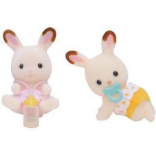 Sylvanian Families Chocolate Rabbit Twin Babies