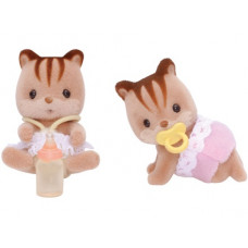 Sylvanian Families Walnut Squirrel Twin Babies